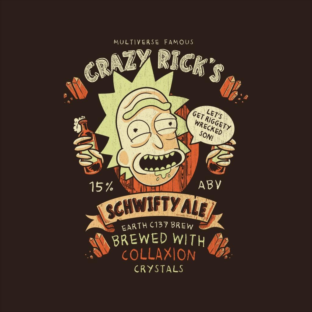 Crazy Ricks schwifty Ale Rick and Morty Tee-shirt Homme