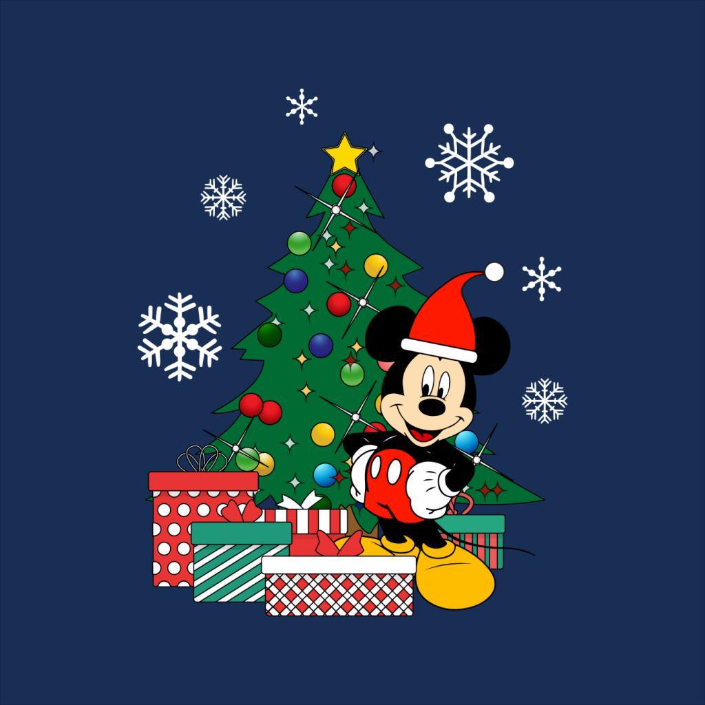 Mickey-Mouse-Christmas-Tree-Women-039-s-T-Shirt thumbnail 5