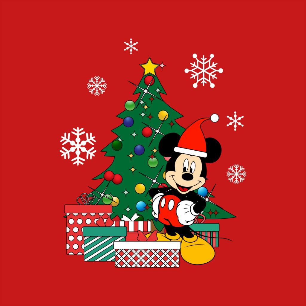 Mickey-Mouse-Christmas-Tree-Women-039-s-T-Shirt thumbnail 8