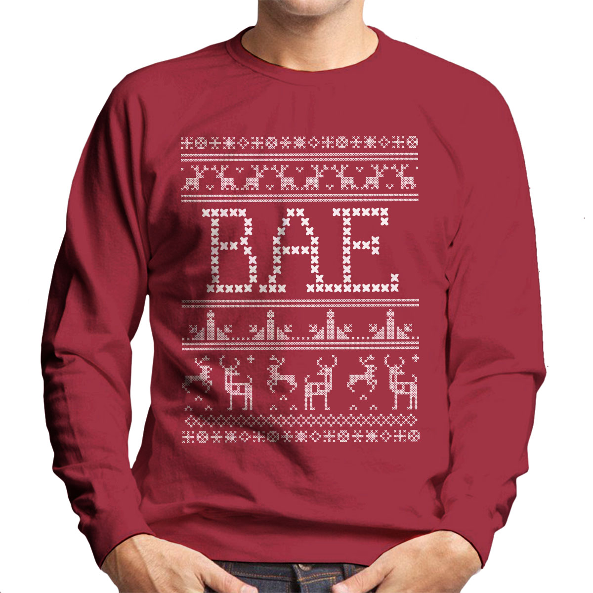 Bae christmas jumper knit pattern mens sweatshirt ebay bae christmas jumper knit pattern men 039 s bankloansurffo Image collections