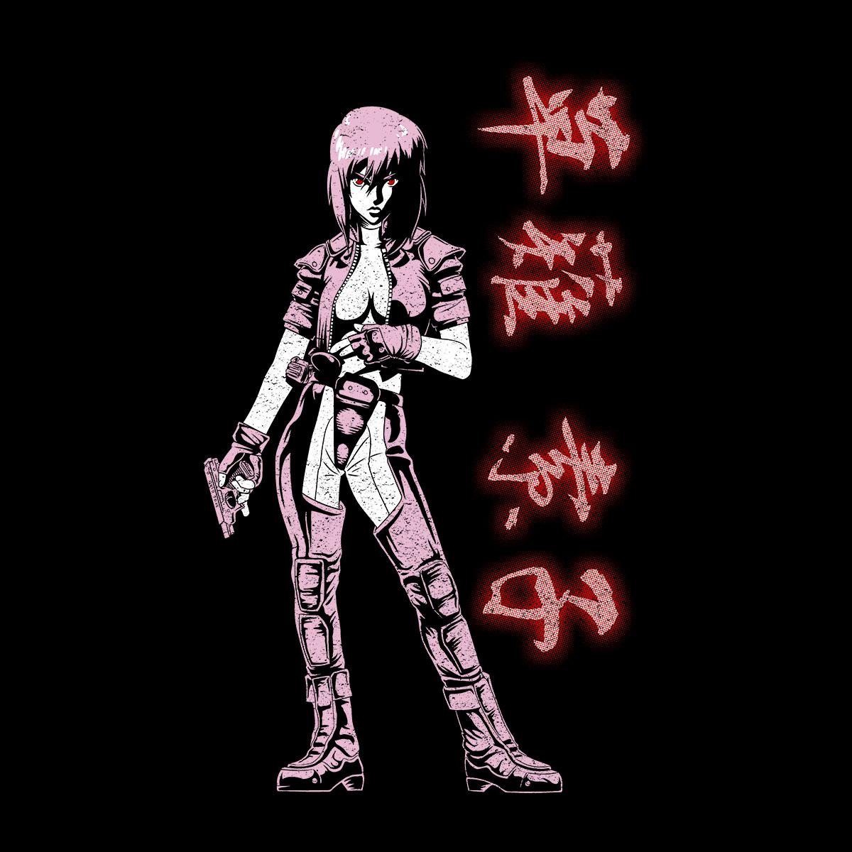 Major-Kusanagi-Ghost-In-The-Shell-Men-039-s-T-Shirt thumbnail 5
