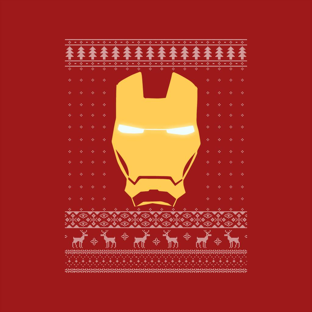 Iron Man Mask Christmas Knit Women/'s T-Shirt